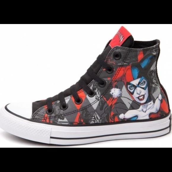 e9770ff7a14617 Converse Shoes - 2017 Converse DC Comics Harley Quinn High Tops. 9